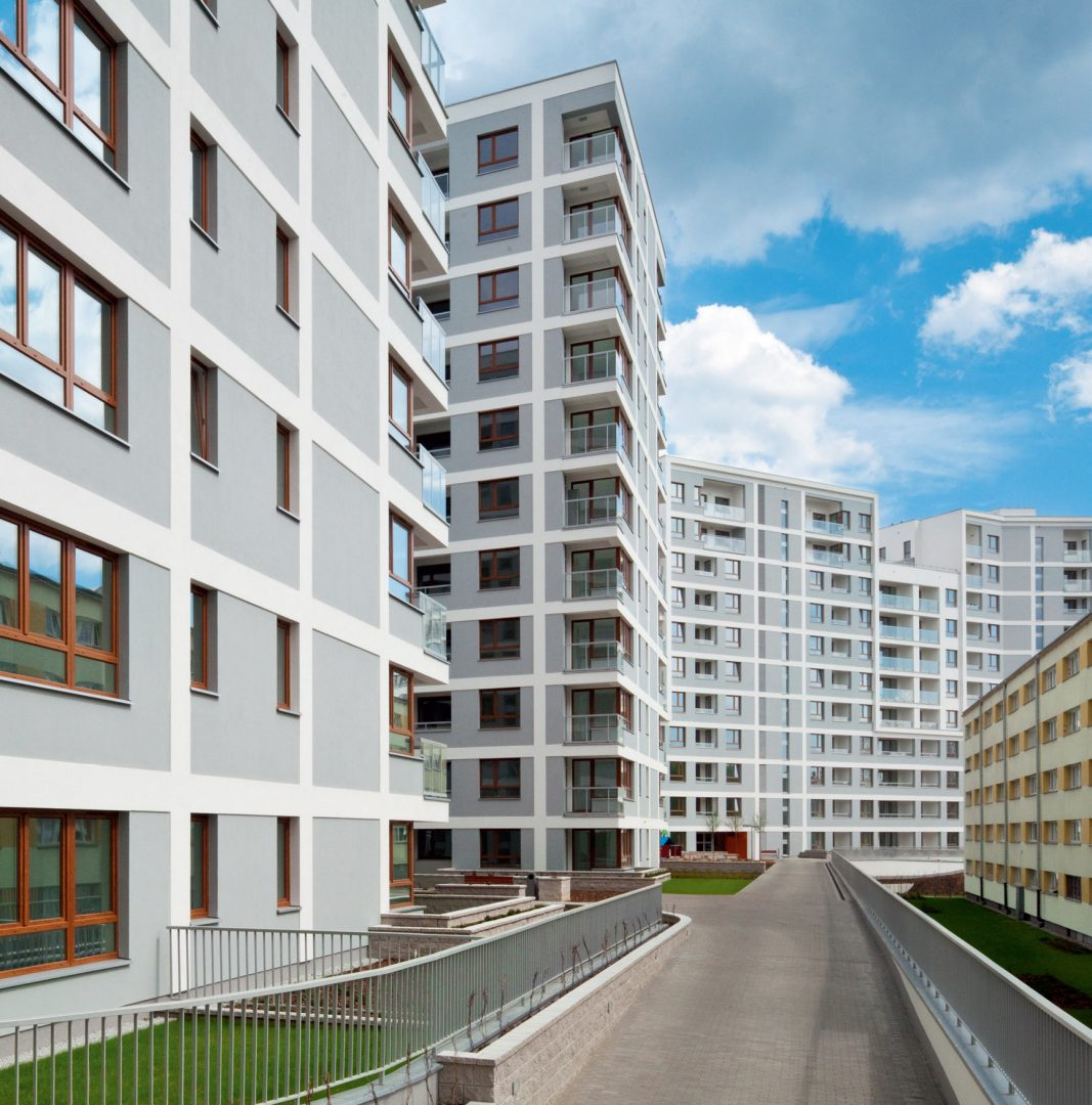 Osiedle Cybernetyki 17, Warszawa, Polska. Inwestor: Dom Development S.A.