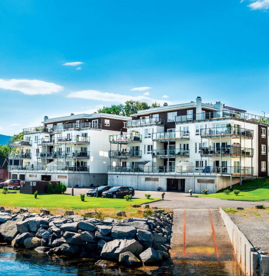 Osiedle Slinningen Brygge, Alesund, Norwegia. Inwestor: NHR Eiendom AS.