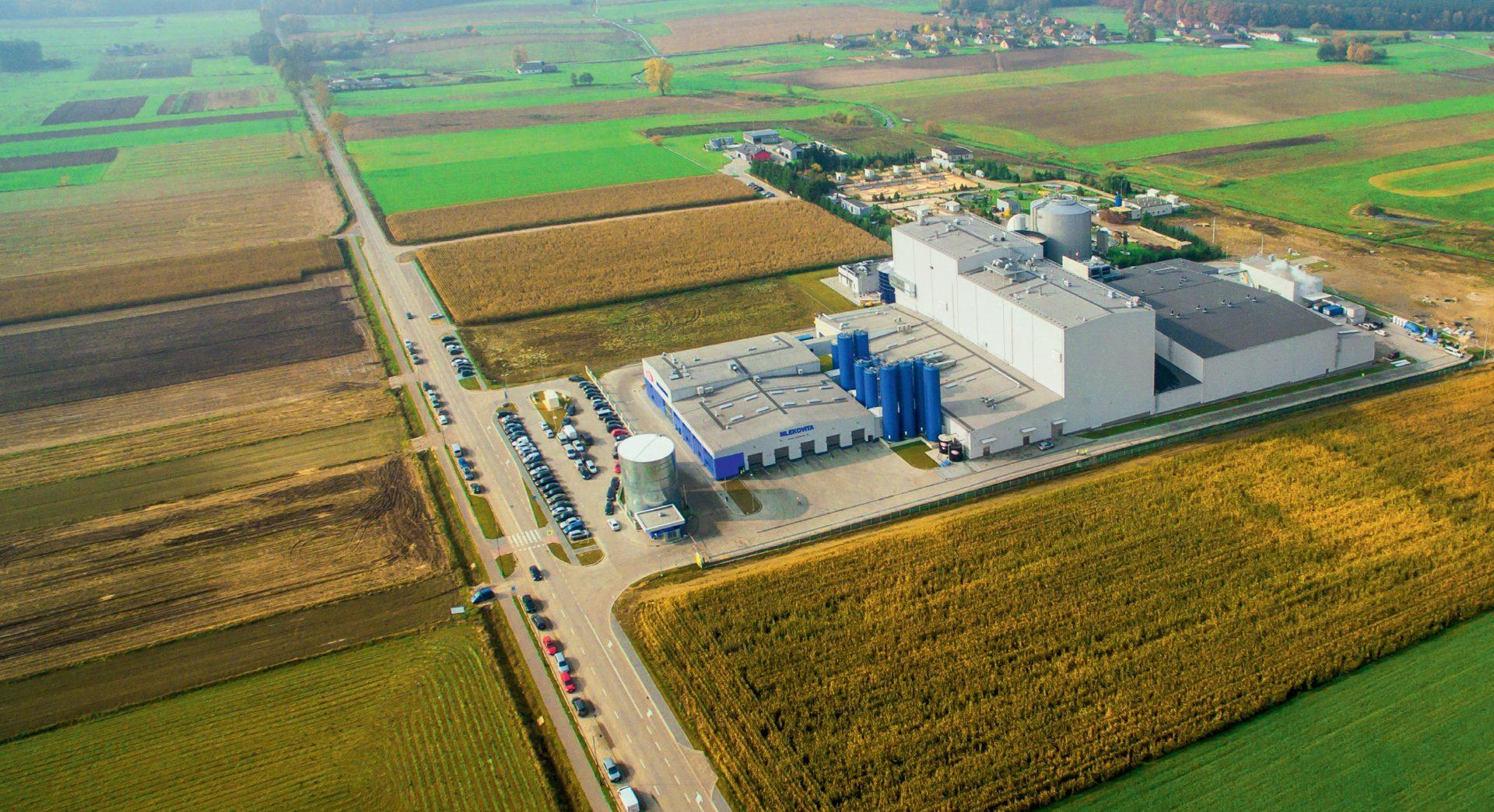 Fabryka Proszków Mlecznych Mlekovita 3, Wysokie Mazowieckie, Polska. Inwestor: Spółdzielnia Mleczarska Mlekovita.